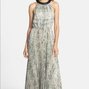 vince camuto snakeskin print pleated maxi dress 2